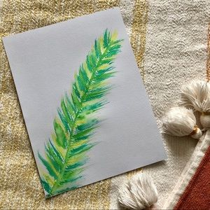 Watercolor feather print